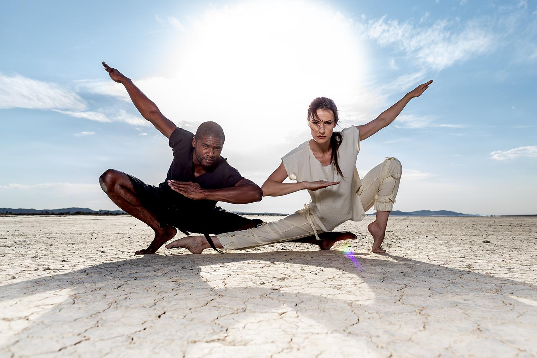 couple dancing desert burning man marvaan