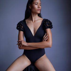 black woman long hair bodysuit swimsuit virgina