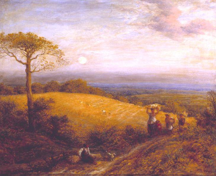 Harvest Moon 1858 by John Linell